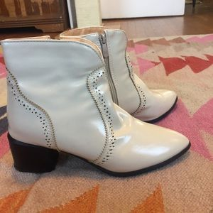 Shoes - White Ankle Boots